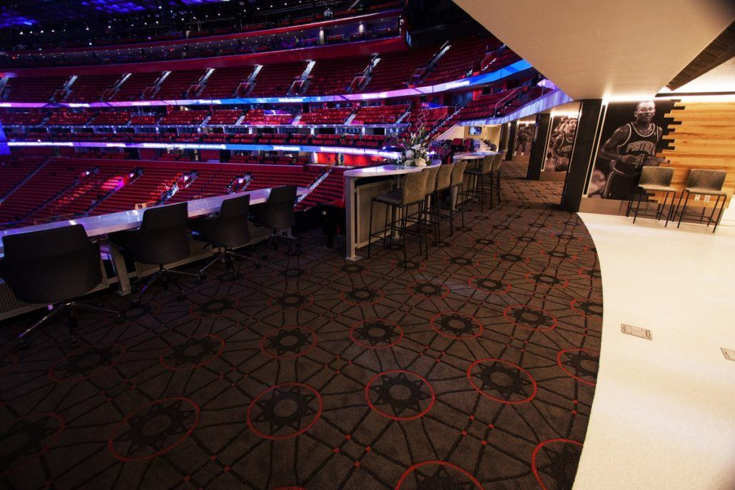 Little Caesar's Arena Legends Club Commercial Floor Installation